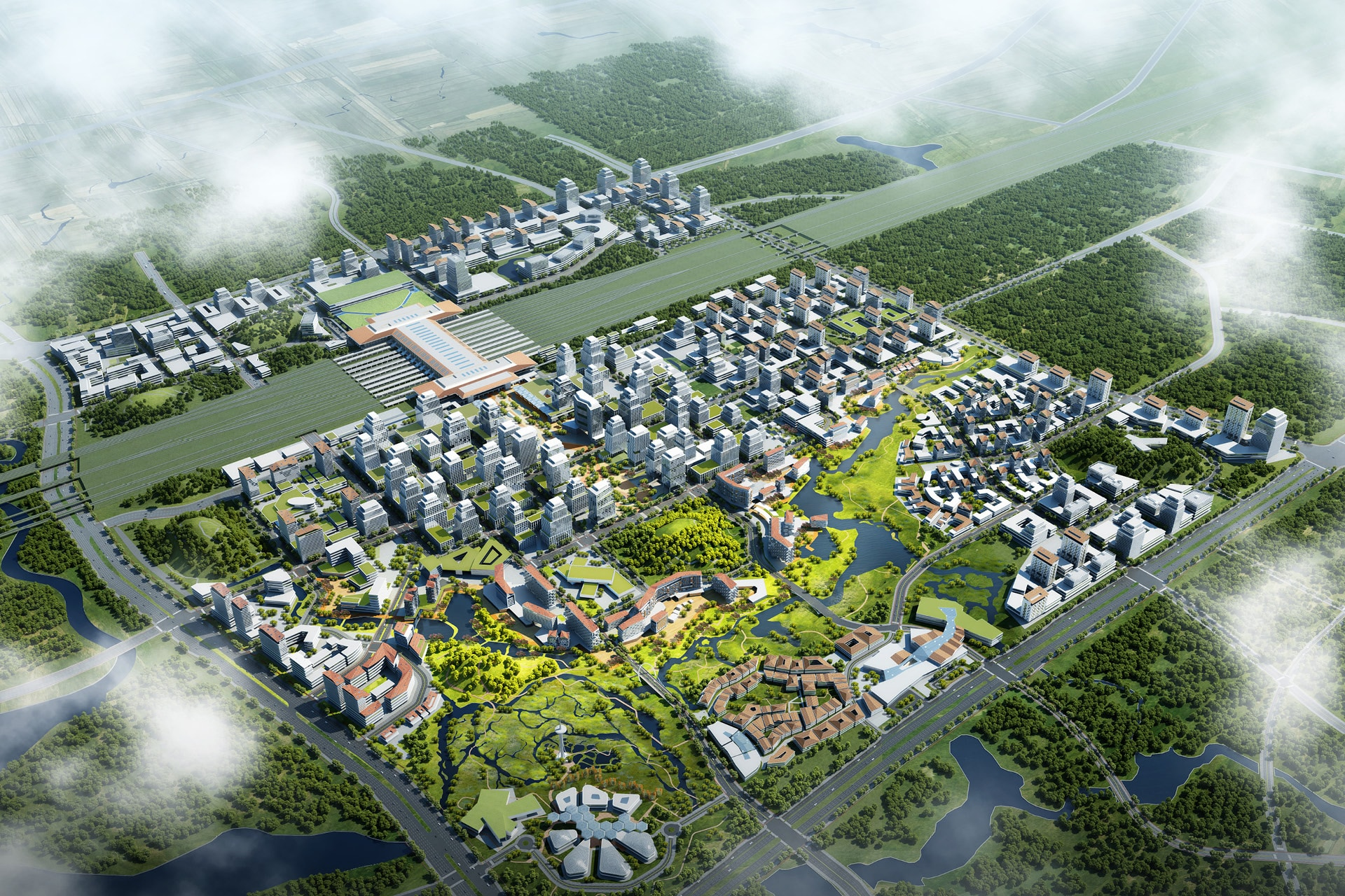 Central business district station area gui an cn mla architecture planning consultancy Urban design vs urban planning